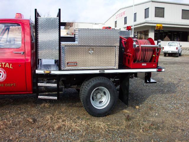 Crystal Fire Department, Arkansas, Flatbed Brush Truck, Left Side, Body Only