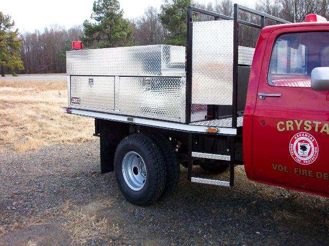 Crystal Fire Department, Arkansas, Flatbed Brush Truck, Right Side, Body Only