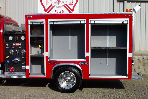 Reliable Fire Products Midi-Pumper, Left Side, Body Only, Doors Open