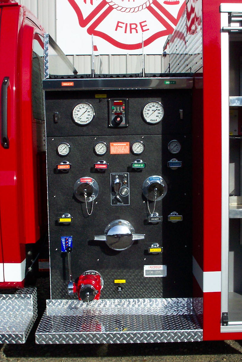 Reliable Fire Products Midi-Pumper, Pump Panel