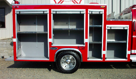 Reliable Fire Products Midi-Pumper, Right Side, Body Only, Doors Open