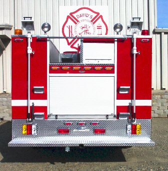 Reliable Fire Products Midi-Pumper, Rear View